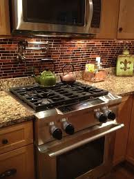 Copper Tiles For Backsplash by Elegant Kitchen Design With Quartz Copper Mosaic Tile Backsplash