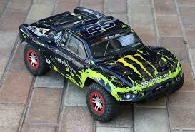 100 Slash Rc Truck Custom Body Muddy Green Over Black Compatible For 110 RC Car