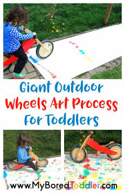 You Are Going To Love This Giant Process Art Activity For Toddlers Its A Perfect Summer Toddler My Daughter Loves Painting She Gardening