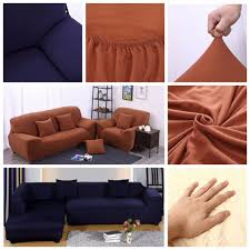3 Seat Sofa Cover by L Shape 3 Seat Stretch Elastic Fabric Sofa Cover Pet Dog