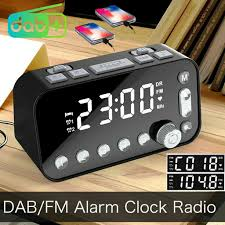 funk dab dab digital radio fm ukw 2xusb radiowecker tischuhr dual alarm timer