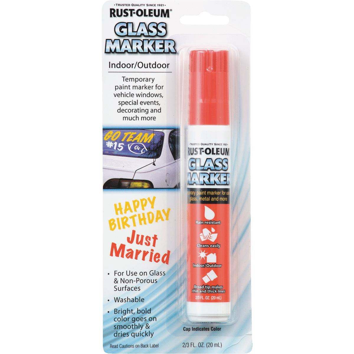 Rust-Oleum Glass Marker - Red, 20ml