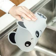 cute panda water splash guard baffle board sucker water baffle