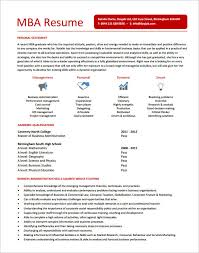 Resume With Mba