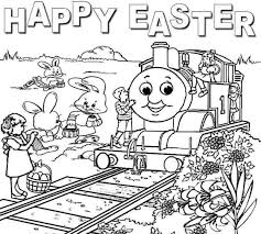 Thomas The Train Easter Coloring Pages AZ
