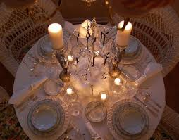 Winter Tablescape With Swarovski Crystal Ornament Centerpiece And Noritake Colburn China Between Naps On The