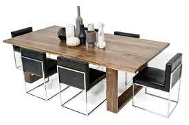 brown walnut slab dining table