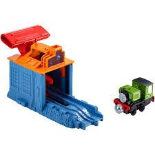 Thomas The Train Tidmouth Sheds Playset by Thomas U0026 Friends Take N Play Speedy Launching Luke Walmart Com