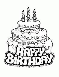 Printable Coloring Pages Of A Birthday CakeColoringFree
