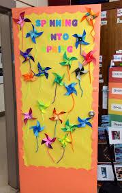 spring classroom door decorations spring pinwheel school