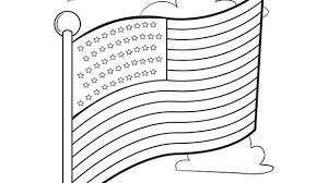 Kids Can Color This Free American Flag For Memorial Day 4th Of July Or Anytime Year