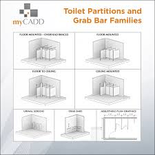 Floor Mounted Urinal Screen by Revit Toilet Partitions U0026 Grab Bar Collection Mycadd