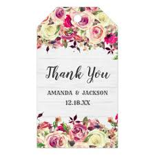 Blush Pink Green Rose Rustic Wedding Thank You Gift Tags