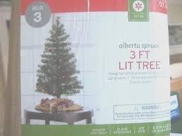 3 Of 5 NIB Alberta Spruce Artificial Christmas Tree W Pre Lit Multi Color Mini Lights