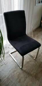 6 esszimmerstühle mit glastisch