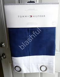 tommy hilfiger cabana stripe navy white window curtain panels