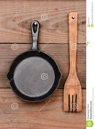 Wooden Fork And Spoon Wall Decor by Frying Pan And Wood Fork Stock Photo Image Of Cooking 37041912