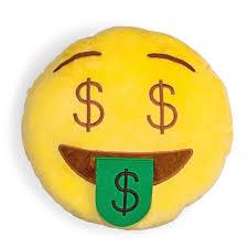 Emoji Smiley Pillow Cushion Plush Stuffed Toy 13 inch Emoticon