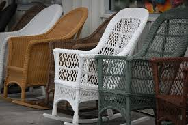 What Is Resin Wicker? All-Weather Wicker Furniture Woven Rope Midcentury Modern Rocking Chair And Ottoman At 1stdibs Polywood Presidential Rocker With Seat Back Classic Outdoor Wicker Off The A Brief History Of One Americas Favorite Chairs Cracker Barrel Spring Haven Brown Allweather Patio Polywood Jefferson Recycled Plastic Cushions Accsories White Veranda Balcony Deck Porch Pool Beach Allen Roth Belsay Dark Steel Tortuga Portside Wickercom Solid Wood Fntiure