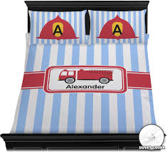 Firetruck Duvet Cover Set (Personalized) - YouCustomizeIt