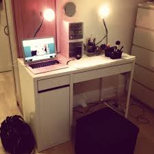 Micke Corner Desk Ikea Uk by Decorating Pretty Corner Ikea Micke Desk In Black With Hutch For