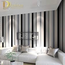 moderne schwarz und weiß grau vertikale streifen tapete tv wohnzimmer papier wand decor einfache gestreiften wand papier r295