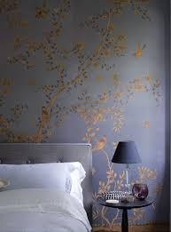 handgefertigte tapeten wohnung dekoration schlafzimmer