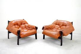 brazilian leather lounge chair by percival lafer for sale at pamono