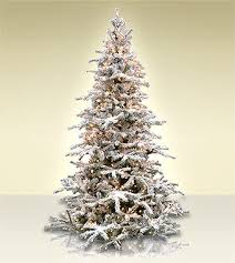 White Forest Flocked Artificial Christmas Tree Classics Collection Rh Treetime Com Large Ceramic Trees Clearance
