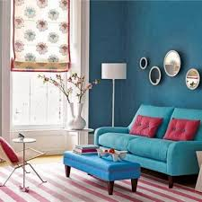 Grey White And Turquoise Living Room by Elegant Turquoise Living Room Wall Paint With Brown Fabric Sofa