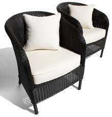 Strathwood Patio Furniture Cushions by Strathwood Bahia Resin Wicker Arm Chair With Cushion Set Of 2
