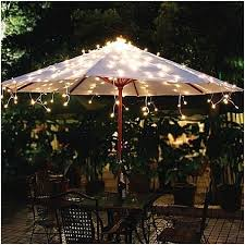 Solar powered patio umbrella lights elegantly  eRM CSD
