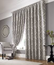 lille lined curtains in silver free uk delivery terrys fabrics
