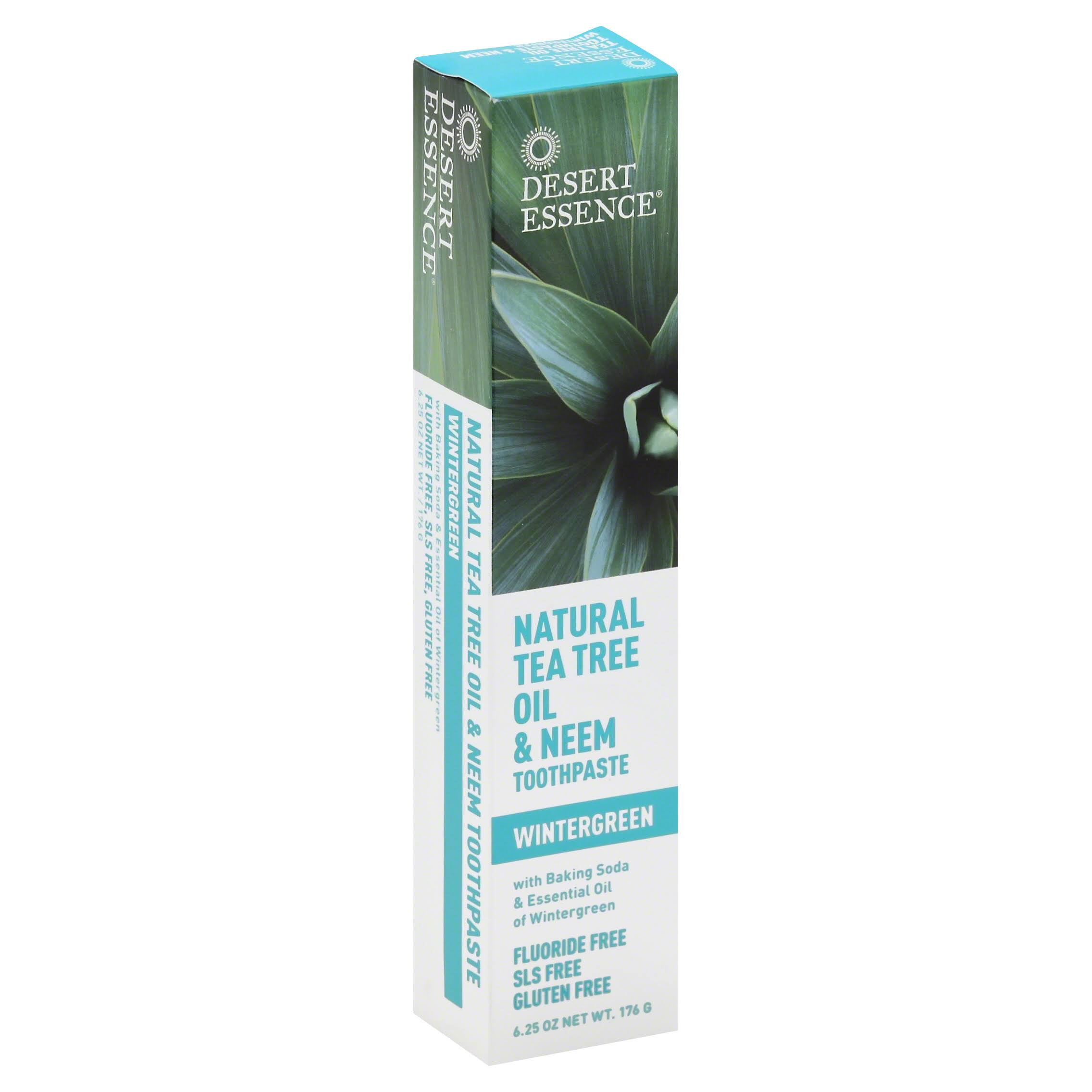 Desert Essence, Natural Tea Tree Oil & Neem Toothpaste