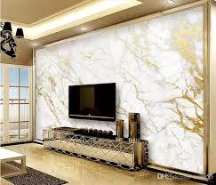 großhandel benutzerdefinierte tapete wandbild gold seide jazz weiße marmor wandpapiere home decor wallpapers für wohnzimmer papel de parede