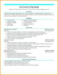 Massage Therapist Resume Therapy Luxury Sample Resumes Functional