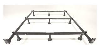 leggett platt king metal bed frame with 9 glides legs and