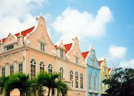 Old Dutch Colonial Gables In Oranjestad Aruba Image IStock