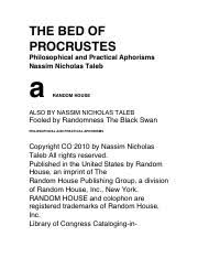 thebedofprocrustes pdf the bed of procrustes philosophical and