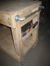 Heres A DIY Portable Garage Workbench On Wheels