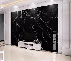 schwarz marmor tapete wandbild wand kunst dekor 3d wand papier für wohnzimmer schlafzimmer wandmalereien kontaktieren papier papel de parede 3d