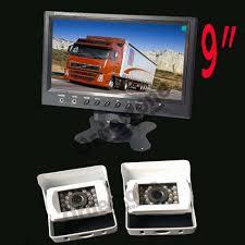 100 Best Backup Camera For Trucks 2x White 18 LED IR CCD Reverse Parking 12V 24V 9 Inch