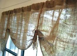 Burlap Kitchen Valance Curtains Drapes Patterns Bag To