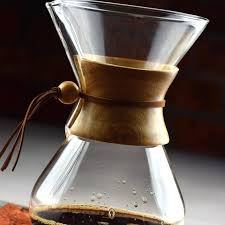 New Modern Pour Over Glass Coffee Maker