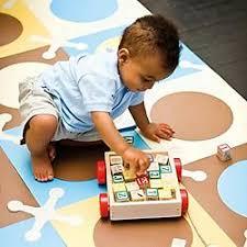 hop playspot foam floor tiles playmat blue gold