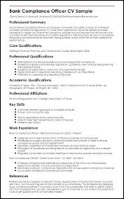 Sample Resume Of Retail Banking Also Bank Compliance Officer