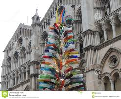 Christmas Tree Made Of Murano Glass Year 2015 Ferrara Italy Unique In The World By Artist Simone Cenedese It Consists Thousand Multicolored