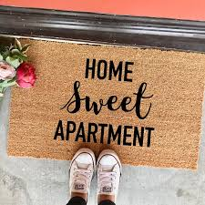 Home Sweet Apartment Doormat 18x30 Welcome Mat