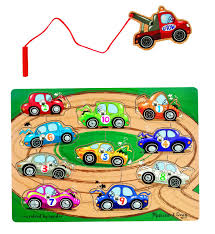100 3d Tow Truck Games Amazoncom Melissa Doug Magnetic Ing Game Wooden Puzzle