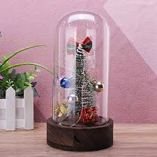 Christmas Tree Ornaments Gift Jingle Bell Glass Dome Bell Jar